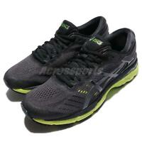 Asics Gel-Kayano 24 Black Green Phantom Men Running Shoes Sneakers T749N-9085