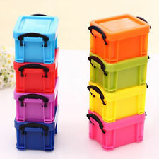 Practical Plastic Mini Storage Box Case Container Organizer Desk Jewery Box