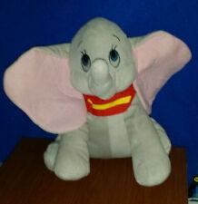 "Dumbo Flying Elephant Vtg DISNEY WORLD Stuffed Cuddly 13"" Soft Animal NOHAT CUTE"