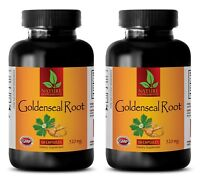 Goldenseal Root Hydrastis 520mg - Anti Aging - Liver Support (2 Bottles)