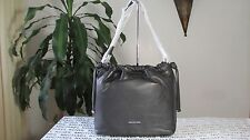 NWT Michael Kors Leather Angelina Large Convertible Shoulder Bag Black