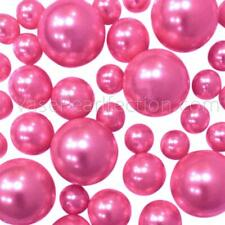 Hot Pink Pearls - No Hole Jumbo & Assorted Sizes for Vase Decorations
