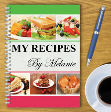 A5 PERSONALISED RECIPE PLANNER, WRITE YOUR OWN RECIPES,HEALTHY RECIPE BOOK,01