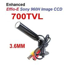 CCTV Lipstick Bullet Security Camera 700 TVL 3.6mm Weatherproof Sony CCD mini