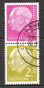 BRD 1955 Zd- Mi. Nr. S 19 179+177 Zusammendruck Gestempelt (7435)