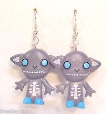Harajuku Japan The Gooli Monsters Grey Skellbo Mini Art Toys Dangle Earrings