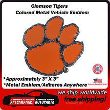 7f3785eb9b88 Clemson University Tigers Colored Metal Car Auto Emblem Decal Ships Fast