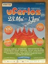 UFERLOS FESTIVAL 2016 FREISING - orig.Concert Poster - Konzert Plakat  NEU