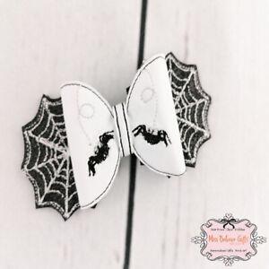 Spider Web Halloween Hair Bow Clip