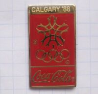 COCA-COLA / OLYMPISCHE SPIELE CALGARY 1988 ... Sport Pin (134a)