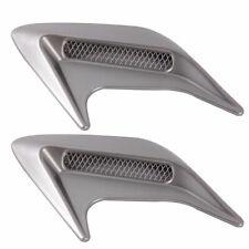 Decorative Air Scoop Flow Intake Hood Vent Bonnet Universal Silver HZN888