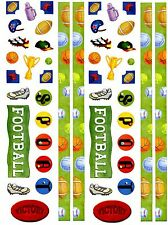 2 Large Sheets FOOTBALL Border SPORTS Trophy Scrapbook Stickers!