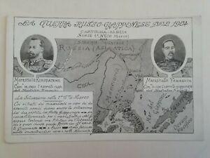 CARTOLINA GUERRA RUSSIA GIAPPONE JAPAN YAMAGATA KUROPATKINE MILITARE CARTE POSTA