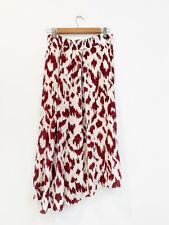Designer Isabel Marant Etoile Size 10 Pink & White Silk Midi Silk Women's Skirt