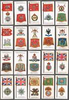 1903 John  Player Badges & Flags of British Regiments Tobacco Cards Complete Set