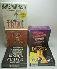 5 Audio Books Mcnall's Chance,Alex Cross's Trial,Sepulchre,Between The Plums A14