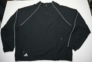 NWT Adidas Climaproof  2007 Deadstock Men's 3XL 1/4 Zip Pullover Vented Jacket