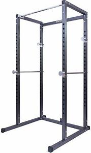 Gym Master Power Cage Squat Rack Bench Press Weight Lifting Multi Pull Up Bar