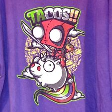 INVADER ZIM TACOS! GIR RIDING UNICORN PIG  T SHIRT MEN'S XXXL 3XL TEE FURY NWOT