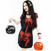 Kreepsville 666 Halloween skeleton flare dress special edition, alternative,goth