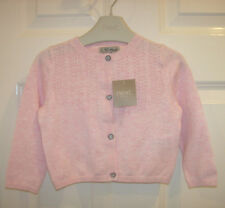NEW BABY GIRLS NEXT CARDIGAN 9-12 mth, Pink cotton long sleeved cardigan