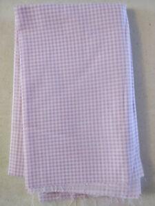 Lot 1018 Fabric, 1 Yard, Purple White Plaid, Looks Like Light Weight Cotton
