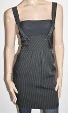 TEMT Designer Black Stripe Overalls Skirt Size 8 - XS BNWT #SH11