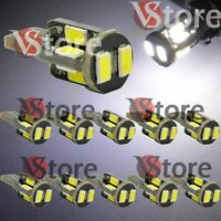 10 Lampade LED T10 Bianco 10SMD 5630 CanBus Posizione Luce Targa 360° Best White