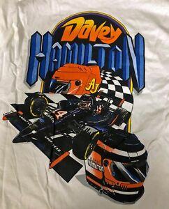 AJ Foyt Racing Garage Sale - RARE- Davey Hamilton #14 Copenhagen IndyCar T-Shirt