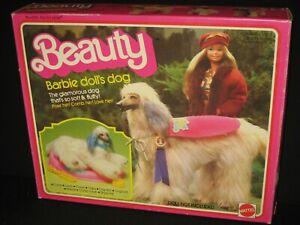 Barbie Doll's Glamorous  Afghan  Dog Beauty 1979 In Original Box  CB