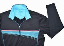 Slazenger Golf Ladies Pullover Size Medium Blue 1/2 Zip Long Sleeve Stretch
