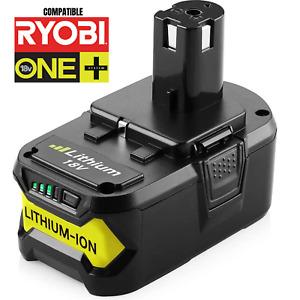 Batterie Ryobi 5 Ah 18V ONE Plus Li-Ion P104 P105 P102 P103 P107 P108 LED One +