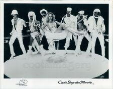 1980 Press Photo Village People Disco Music Band Woman in Champagne Glass