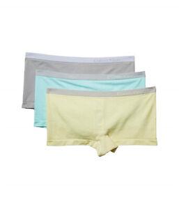 Calvin Klein Women's Pure Seamless Boy-short Panty Underwear Size S M 3-pack