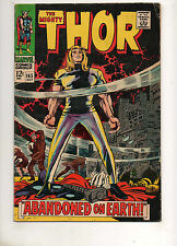 Thor #145 Fine+ 6.5 TOUGH BLACK COVER! Thor Abandoned! Jack Kirby Art 1967