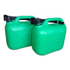 2 x 5 Liter Dieselkanister Benzinkanister UN-Zulassung grün inkl. Ausgießer NEU