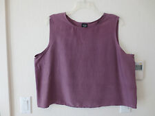 Eileen Fisher Silk Tank, Top, Lavendar, 2X