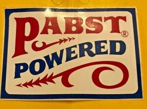 vintage Snowmobile Papst Powered Sticker. Blue Ribbon Beer