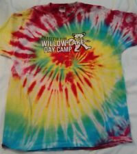 GRATEFUL FOR WILLOW LAKE DAY CAMP TYE DYE, X LARGE, ONE SIDED, RARE