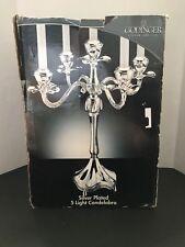 Vintage Godinger Silver Plated 5 Light Candelabra Table Top Candle Holder - 7116