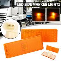 2X LED Amber Turn Signal Side Marker Lights Lamp For Mercedes Actros Atego