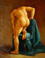 LMOP697 100%  hand painted portrait naked strong man art oil painting canvas
