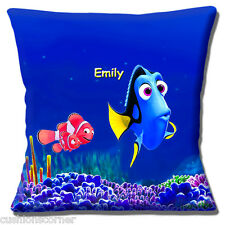 "PERSONALISED ADD NAME Finding Dory Disney DORY & NEMO 16"" Pillow Cushion Cover"