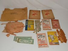 Lot of Family Stamps Trading United Trading Profit Sharing Stamps
