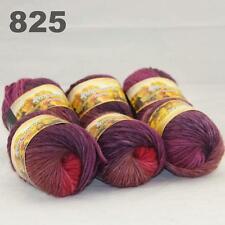 Sale LOT 6ballsx50gr NEW Chunky Hand-woven Colors Knitting Rainbow Wool Yarn 825