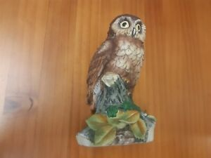 Vintage Beautiful Large Owl figurine, Finest Porcelain Ware by Kowa, Tawny Owl