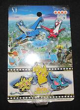 Sealed Pokemon Center Pin Set / Latios, Latias, Pichu, Pikachu, Wobbuffet RARE!