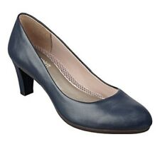 "Easy Spirit Neoma leather pump navy blue anti gravity 2.5 "" heels sz 9  WIDE New"