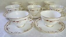 (8) Royal Doulton STRASBOURG CUP&SAUCER SETS  Made in England H4958 Excellent