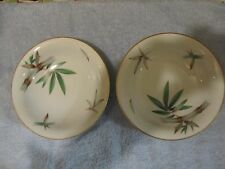 NORITAKE CHINA BOWLS (2) CANTON 5027  (JAPAN) Marked BAMBOO DESIGN EX.CONDITION